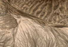The sand pattern on the seabed after low tide Royalty Free Stock Photo
