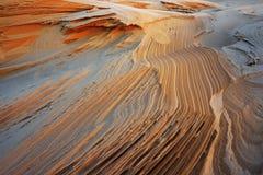 Sand Pattern, Silver Lake Sand Dunes Royalty Free Stock Photos