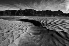Sand pattern of volcano Mountain Bromo Stock Photography