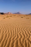 Sand pattern, Wadi Rum desert. Jordan. Sand pattern and beautiful landscape of the wadi rum desert in Jordan Stock Photos
