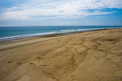 Sand Patterns on a Cape Cod Beach Stock Photos
