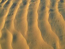 Sand patterns in the desert Stock Images