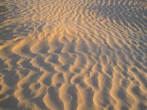 Sand patterns in the desert Stock Photos