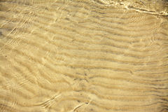 Sand Patterns in Shallow Water Royalty Free Stock Images
