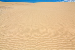 Sand patterns after wind  on the Nature reserve, Park Natural, Corralejo, Fuerteventura Royalty Free Stock Image