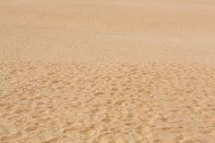 Sand patterns after wind  on the Nature reserve, Park Natural, Corralejo, Fuerteventura Stock Images