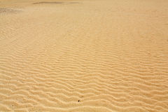 Sand patterns after wind  on the Nature reserve, Park Natural, Corralejo Stock Photography