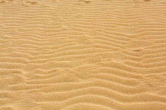 Sand patterns after wind  on the Nature reserve, Park Natural, Corralejo, Fuerteventura, Royalty Free Stock Image