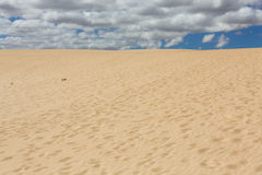 Sand patterns after wind  on the Nature reserve, Park Natural, Corralejo Royalty Free Stock Image