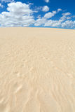 Sand patterns after wind  on the Nature reserve, Park Natural, Corralejo Royalty Free Stock Photo
