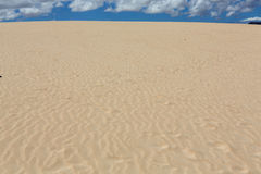 Sand patterns after wind  on the Nature reserve, Park Natural, Corralejo, Fuerteventura Stock Image