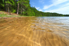 Sand Patterns in Wisconsin Lake. Interesting sand Patterns in a northern Wisconsin Lake royalty free stock image
