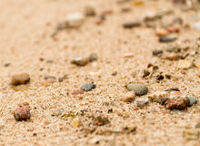 Sand pebbles pattern Royalty Free Stock Photo