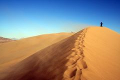 Sand and People. Sand in Nation Park. Asia. Kazakhstan Stock Photos