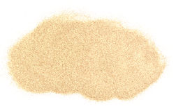 Sand pile. Isolated on white background stock photo