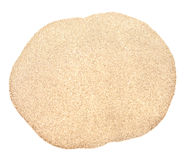Sand pile. Isolated on white background royalty free stock photography