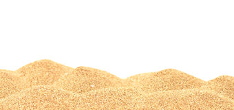 Sand pile. Isolated on white background royalty free stock images