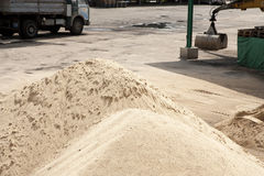 Sand pit Stock Photo