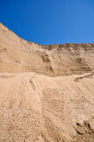 Sand pit and blue sky Royalty Free Stock Image