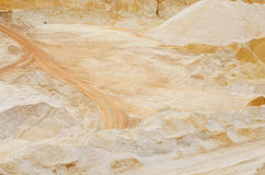 Sand pit mining industrial quartz Stock Photography
