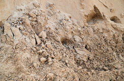 Sand pit. Pile of sand Stock Photos