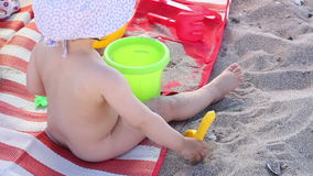 Sand Playing Children stock footage