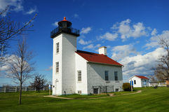 Sand Point Lighthouse. In Escanaba, Michigan royalty free stock image