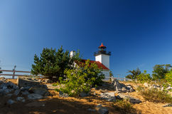 Sand Point lighthouse. In Escanaba, Michigan royalty free stock photos