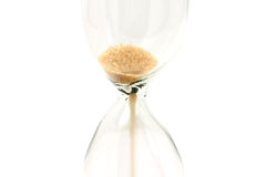 Sand poured out of the hourglass Stock Image