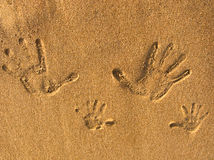 Sand and print Stock Photography