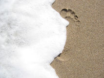Sand Print Royalty Free Stock Images