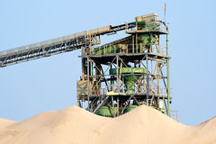 Sand processing Royalty Free Stock Images