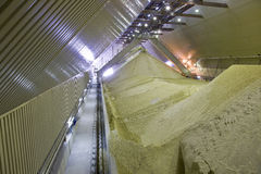 Sand processing. In modern plant Royalty Free Stock Images
