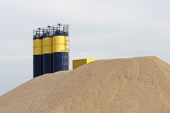Sand processing plant Stock Images