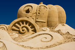 Sand pumpkin Stock Photography