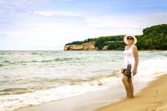 Sand-Punkt-Strand Stockfoto