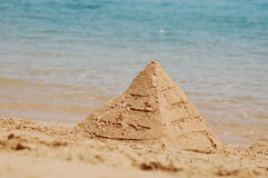 Sand pyramid Royalty Free Stock Photo