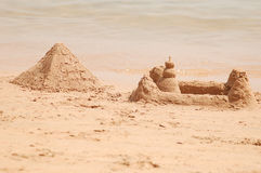 Sand pyramid Royalty Free Stock Photos