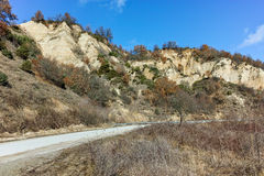 The sand pyramids near ancient Melnik town, Bulgaria Royalty Free Stock Photography