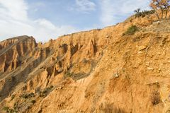 Sand pyramids. In Stob, Bulgaria formed by erosion and wind Royalty Free Stock Photography