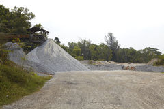 Sand quarry Royalty Free Stock Image