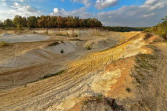 Sand quarry in the early autumn. Royalty Free Stock Photos