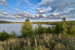 Sand quarry in the early autumn. Stock Photography