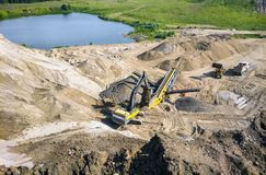 Sand quarry. Extraction of sand and rubble in the quarry royalty free stock photo