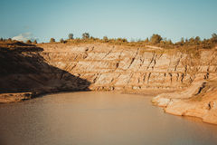 Sand quarry Royalty Free Stock Photos