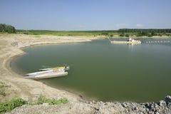 Sand quarry on river Po, Polesine Parmense Royalty Free Stock Images