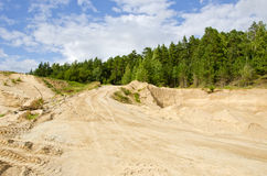 Sand quarry in the forest Stock Photography