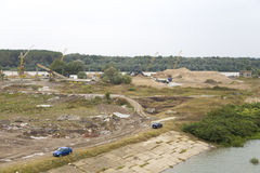 Sand quarry Stock Images