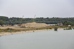 Sand quarry Royalty Free Stock Image