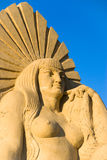 Sand queen. The first ever Festival of sand sculptures in Bulgaria was held in the month of July 2008 in Burgas. It made world-famous artists from Indonesia stock photos